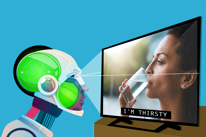 Robot xem tivi