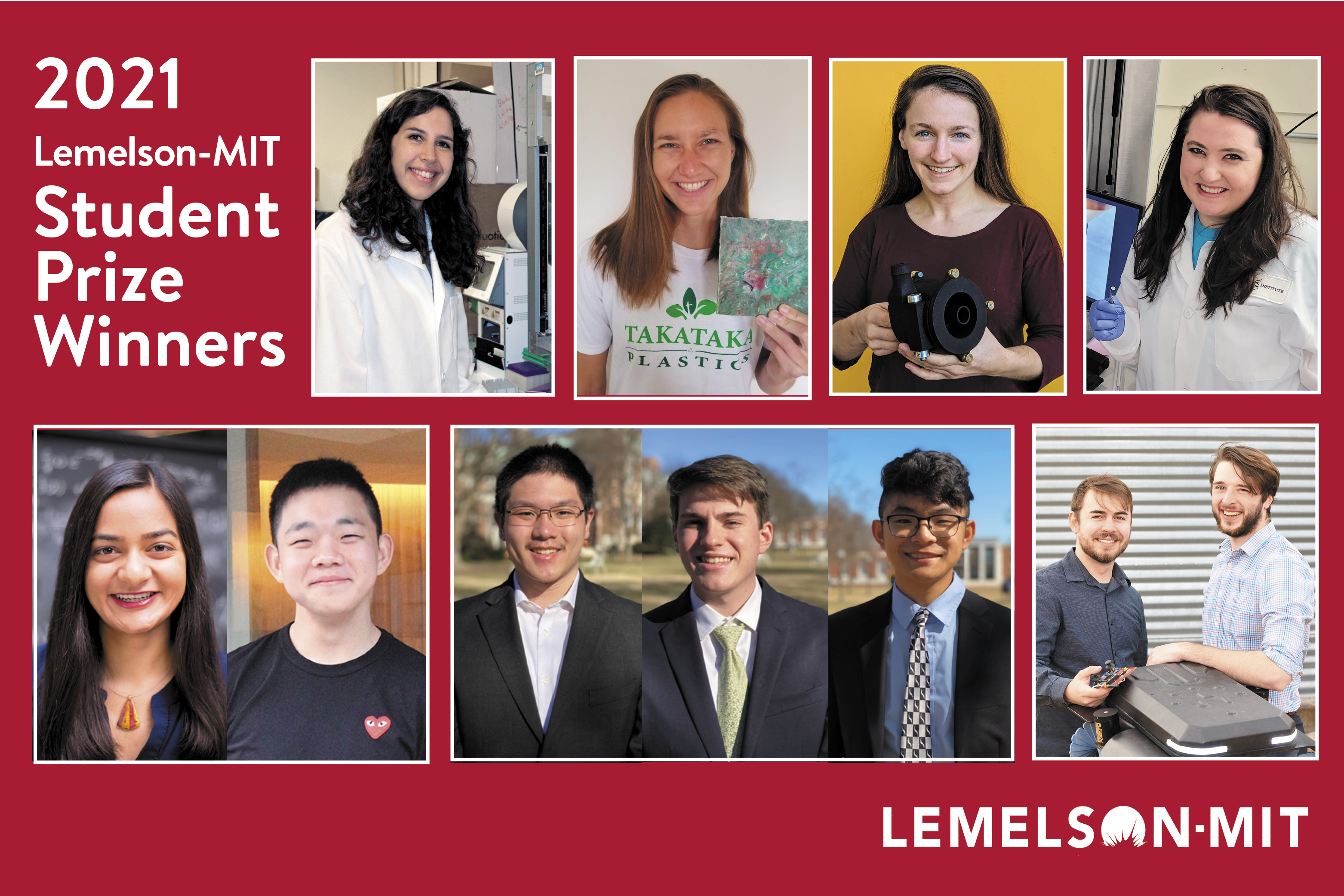 Top collegiate inventors awarded 2021 Lemelson-MIT Student Prize
