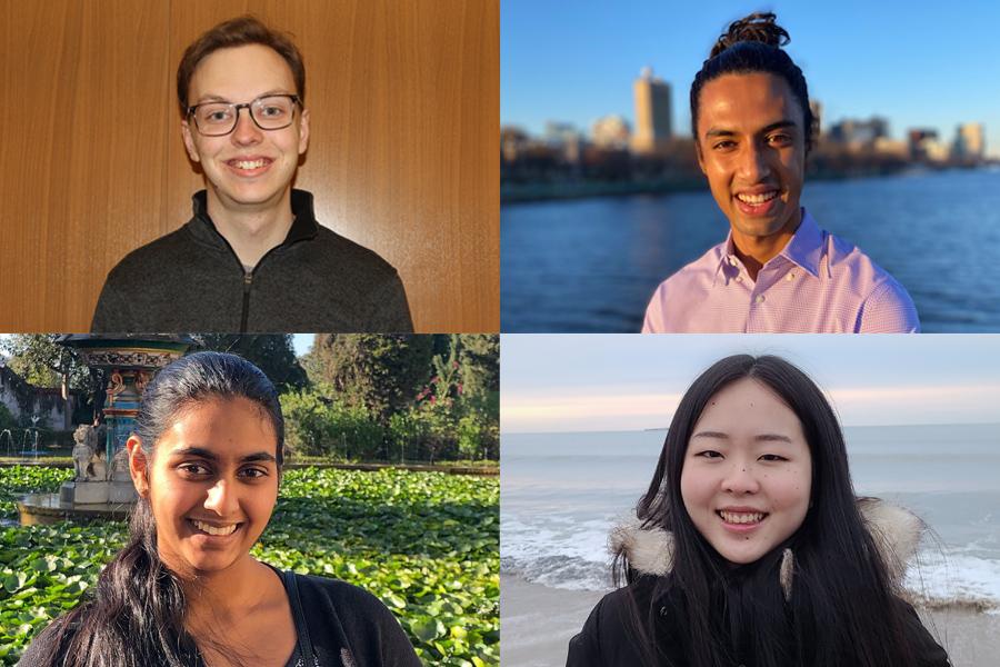 Spencer Compton, Karna Morey, Tara Venkatadri, and Lily Zhang named 2021-22 Goldwater Scholars