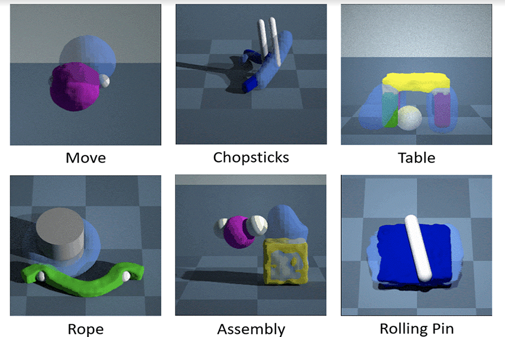Training robots to manipulate soft and deformable objects