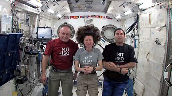 Three astronaut-alumni on the ISS