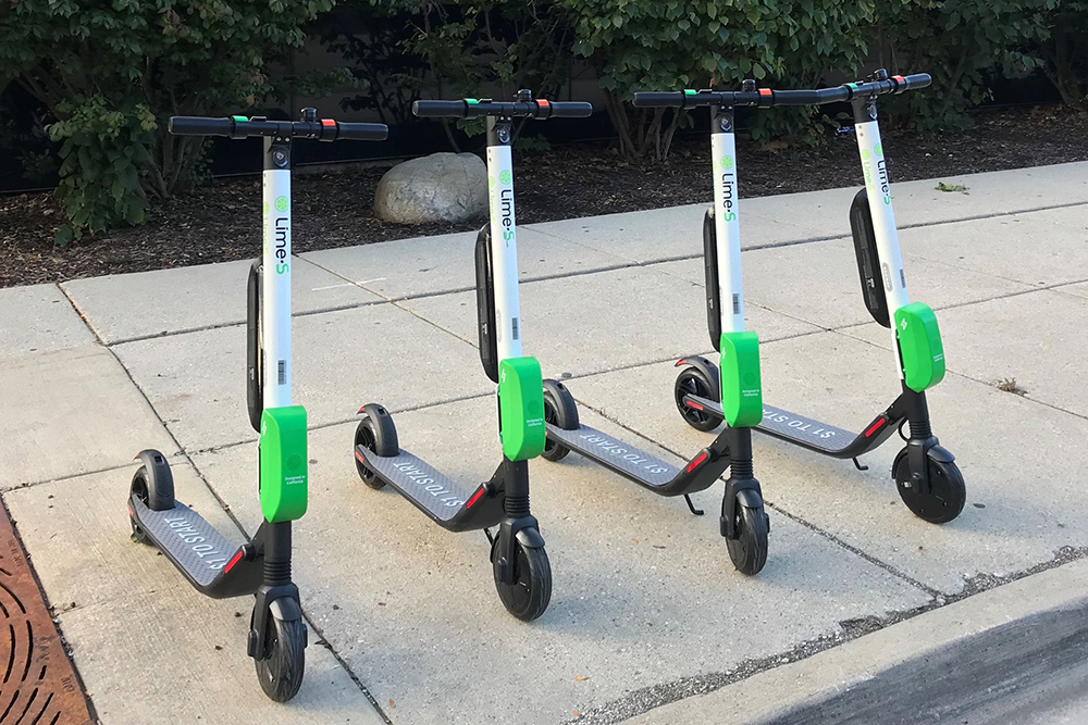 Comparing the benefits of scooter-sharing vs. bike-sharing