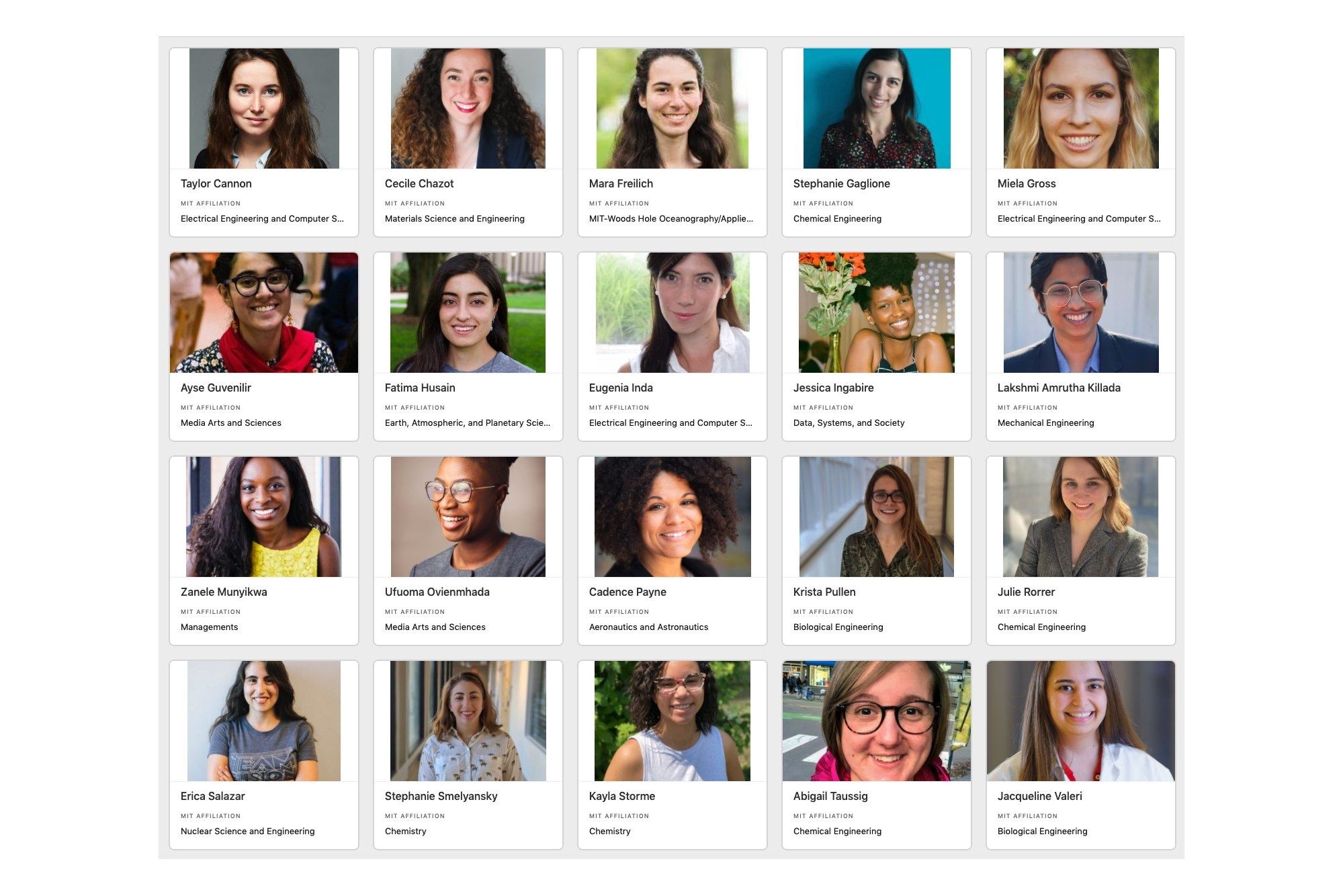 Women in Innovation and STEM Database at MIT announces fellowship program