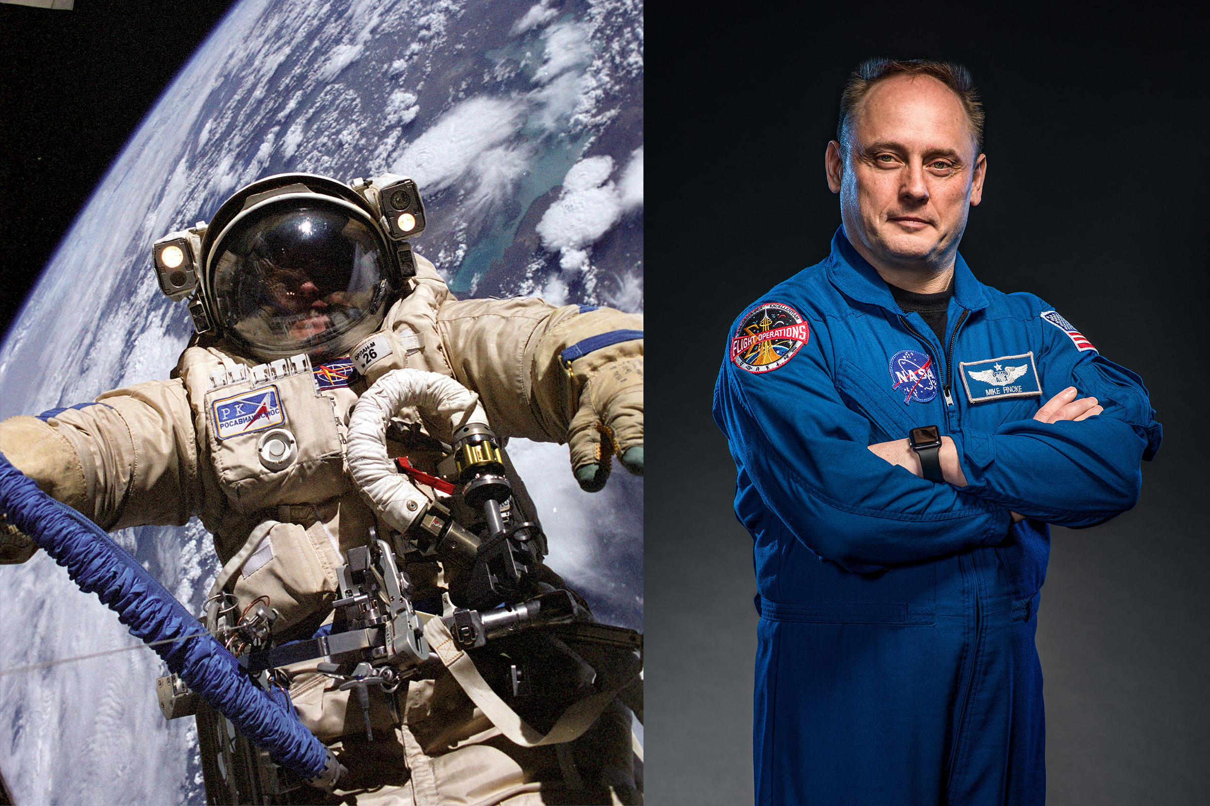 Astronaut Michael Fincke '89 offers students out-of-this-world advice