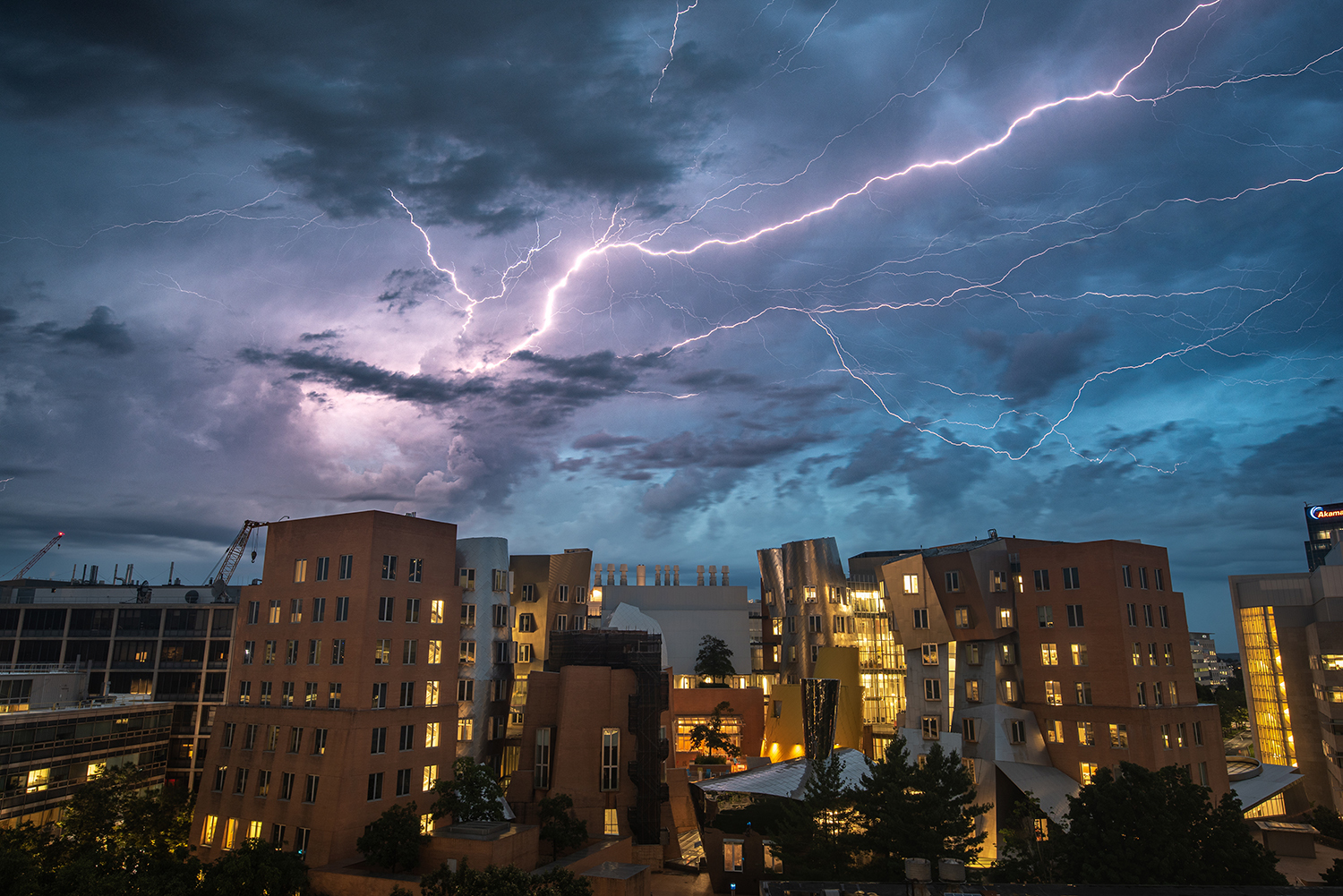 Scene at MIT: In a stroke of lightning, the beauty of nature and architecture