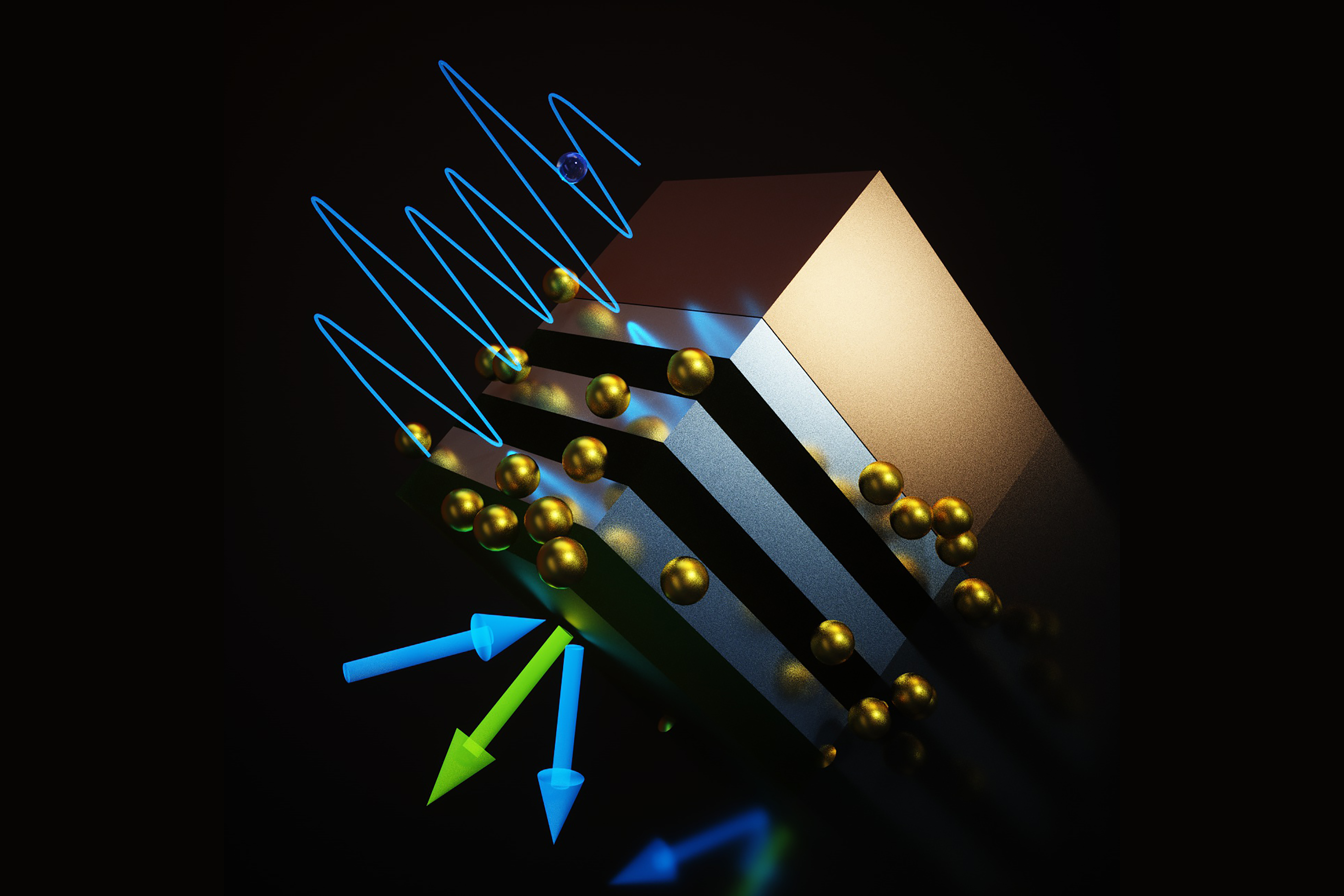 A peculiar state of matter in layers of semiconductors