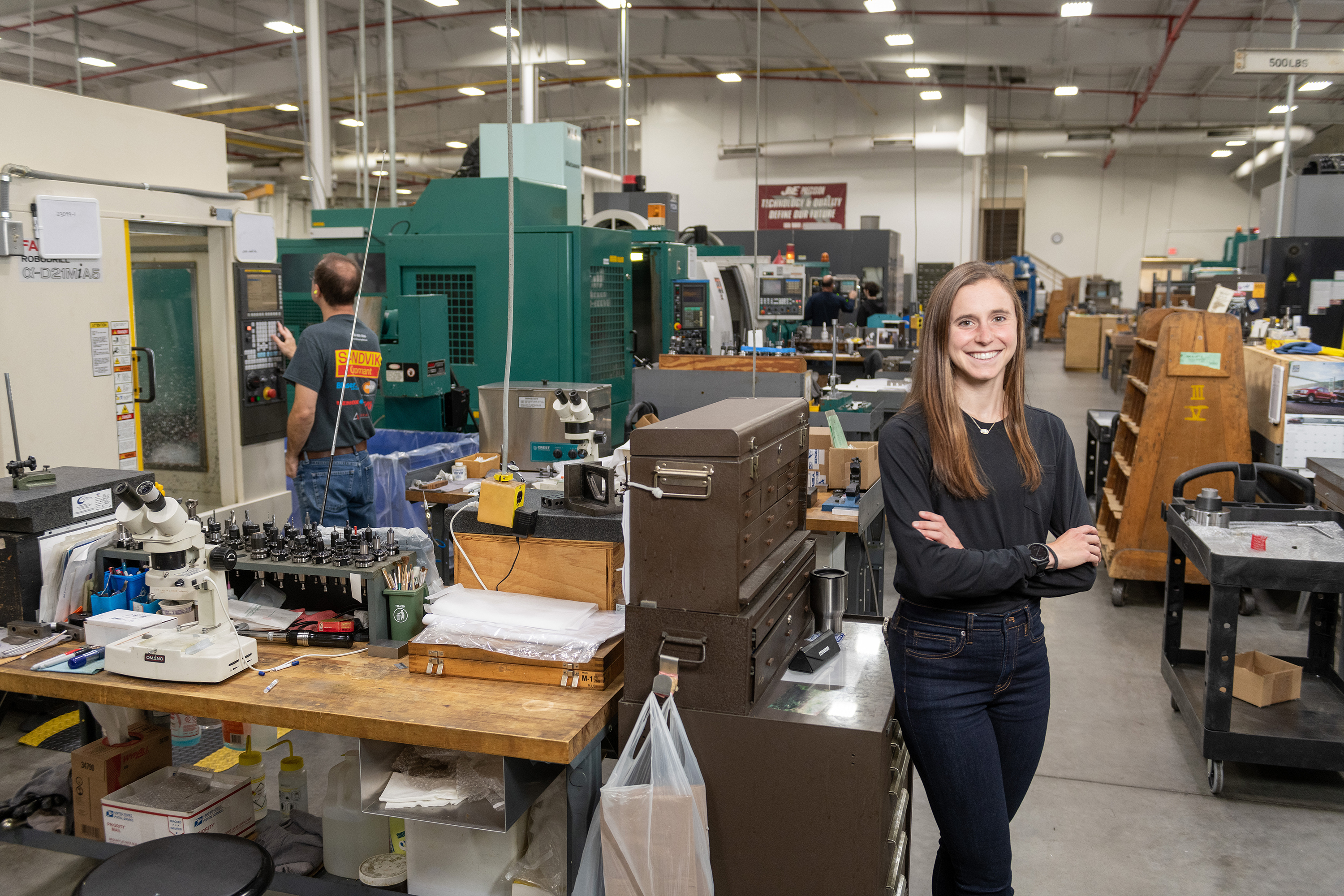 From triathlons to aerospace, Caitlin…
