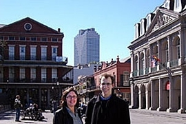 Lorlene Hoyt, assistant professor in urban studies and planning, with 