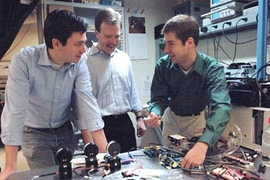 Postdoctoral associate Michel Godin, left, Associate Professor Scott