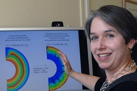 MIT planetary scientist Linda Elkins-Tanton, Mitsui Career Development Professor of Geology in the Department of Earth, Atmospheric and Planetary Sciences, views profile showing that hot, young planets may be easier to spot because they stay hot longer than astromomers  have thought.
