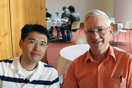 Former postdoctoral fellow Young-Jin Lee, left, and David E. Pritchard, the Cecil and Ida Green Professor of Physics