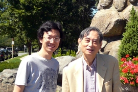 Researchers Yang Zhang and Sow-Hsin Chen.