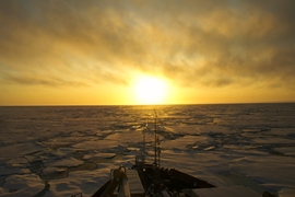 Taken from the Canadian Research Icebreaker CCGS Amundsen, in the Beaufort Sea in September 2009.