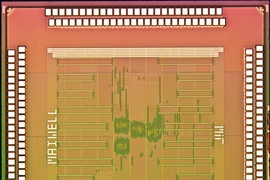 Die photo of the processor chip.