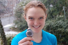 For Maggie Lloyd '12, a member of MIT Strong, numbers matter: Her watch shows that her March training run lasted 2 hours and 59 minutes — or 179 minutes, the same number as the badge number of slain MIT Police Officer Sean Collier.