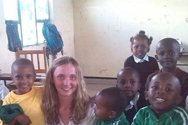 Clemmie Mitchell from Scotland taught English in a Tanzanian village school.