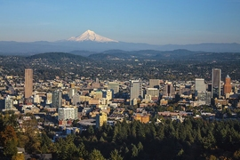 Portland, Ore. (pictured here), developed incentives, training, and regulations to help sustainable construction firms grow, while a pilot program called Clean Energy Works Portland employed 400 workers to reduce home energy use, reducing carbon emissions by 1,400 metric tons annually.