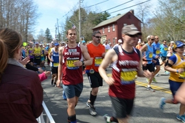 Azzarelli ran the 2014 Boston Marathon as part of the MIT Strong team.