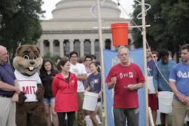 President Reif invited the MIT community to participate, and he dedicated the event to Karolina Fraczkowska '01, whose husband recently died of the disease.