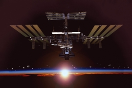 Artist rendering of the International Space Station (ISS)
