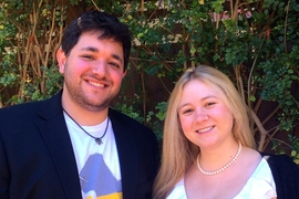 Tinfoil's co-founders, Michael Borohovski '09 and Ainsley Braun '10.