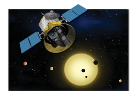 Conceptual image of TESS, the Transiting Exoplanet Survey Satellite