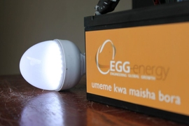Across rural Tanzania, EGG Energy has helped replace thousands of polluting kerosene lamps, traditionally burned indoors for lighting, with cleaner, solar-powered LED bulbs. The startup's solar-home systems also power mobile chargers, televisions, radios, and other electronic devices.