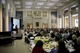 MIT's Morss Hall was packed for the annual observance of the memory of Dr. Martin Luther King Jr.