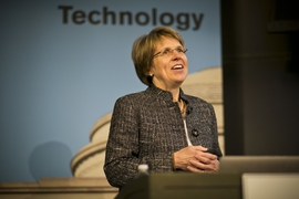 Penny Chisholm delivers the annual Killian Faculty Achievement Award Lecture at MIT