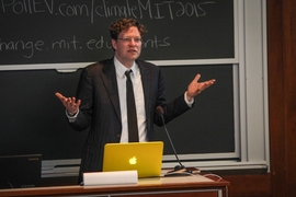 Christoph Reinhart, a professor of architecture, described MIT's present campus facilities and their energy usage, and the extent of improvements that are needed.