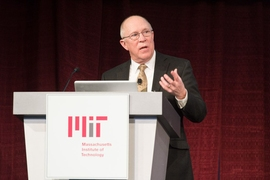 John Charles, head of MIT's IS&T office, described the potential for harnessing massive amounts of data about the operations of campus energy and other systems.