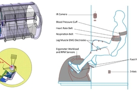 These illustrations depict how the researchers' new centrifuge could be used in space.