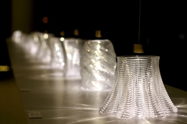 An exhibition of the 3-D printed glass structures.