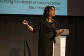 Sangeeta Bhatia spoke about the importance of role models in inspiring young women to pursue careers in STEM fields.