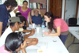 The MIT team held a series of training sessions for the community operators in the village.