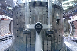 A view inside the Alcator C-Mod tokamak.