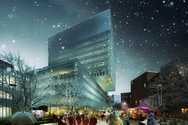 Kendall Square will be activated and programmed for all seasons, and could include fire pits and food trucks along the promenade by the future building that will be built between Wadsworth and Hayward streets.