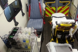 Point-of-care biomanufacturing integrates genetically engineered yeast and portable microbioreactors for on-demand drug production in an ambulance, for example.