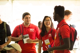 Current MIT students staffed the event and greeted students of the Class of 2020 and their families.