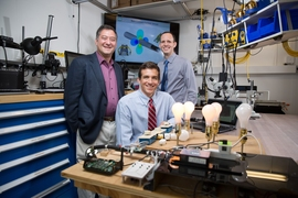 (From left) MIT Professor of Electrical Engineering Steven Leeb, graduate student John Donnal, and electrical engineer and consultant Jim Paris PhD '13