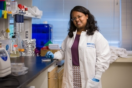 "PhD student Anasuya Mandal arrived on campus with a clear goal for her research. ""I wanted to do something that would impact human health at the end of the day, and to make a product that somebody would have in their hands that they would use,"" she says."
