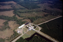 After making several upgrades, scientists have restarted the twin detectors of LIGO, the Laser Interferometer Gravitational-wave Observatory. The Livingston detector site, located near Livingston, Louisiana, is pictured here.