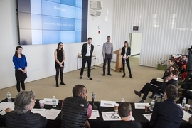 Student-led teams, drawn from across the MIT community, pitched their ideas at the MIT Media Lab to become part of the inaugural cohort for DesignX, the new entrepreneurship accelerator from the School of Architecture and Planning.