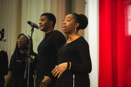 The event opened with a performance by MIT's Gospel Choir.