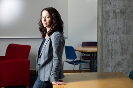 """I'm really loving MIT so far,"" MIT philosophy professor Tamar Schapiro says. ""The philosophy department here has a reputation as being the friendliest in the country, and it's really true. People enjoy it, and that creates a virtuous cycle."""