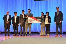 The team change:WATER Labs won a $5,000 Audience Choice award.
