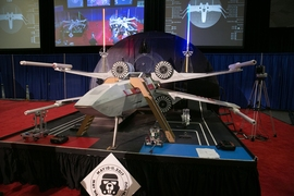 The gameboard for the 2017 MIT Mechanical Engineering 2.007 Student Design Robot Competition took the form of an X-wing Starfighter.