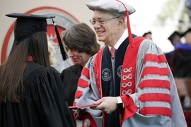"""I see graduates who are ready. … You made MIT better. And you will make a better world,"" said MIT President L. Rafael Reif in his charge to the graduates of 2017."