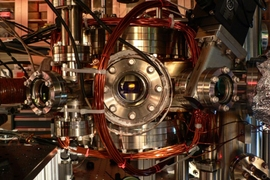 This vacuum chamber with apertures for several laser beams was used to cool molecules of sodium-potassium down to temperatures of a few hundred nanoKelvins, or billionths of a degree above absolute zero. Such molecules could be used as a new kind of qubit, a building block for eventual quantum computers.