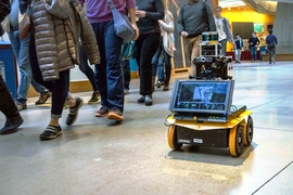 "Engineers at MIT have designed an autonomous robot with ""socially aware navigation,"" that can keep pace with foot traffic while observing these general codes of pedestrian conduct."